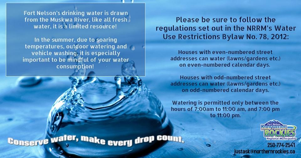 Water use reminder poster