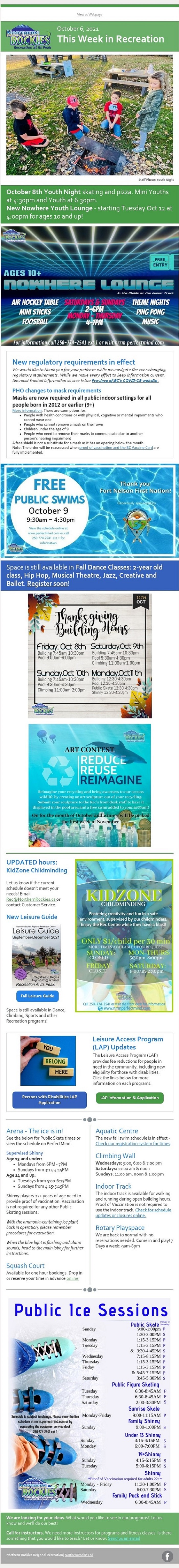 This Week in Rcreation October 6 Newsletter - see html link for accessible version